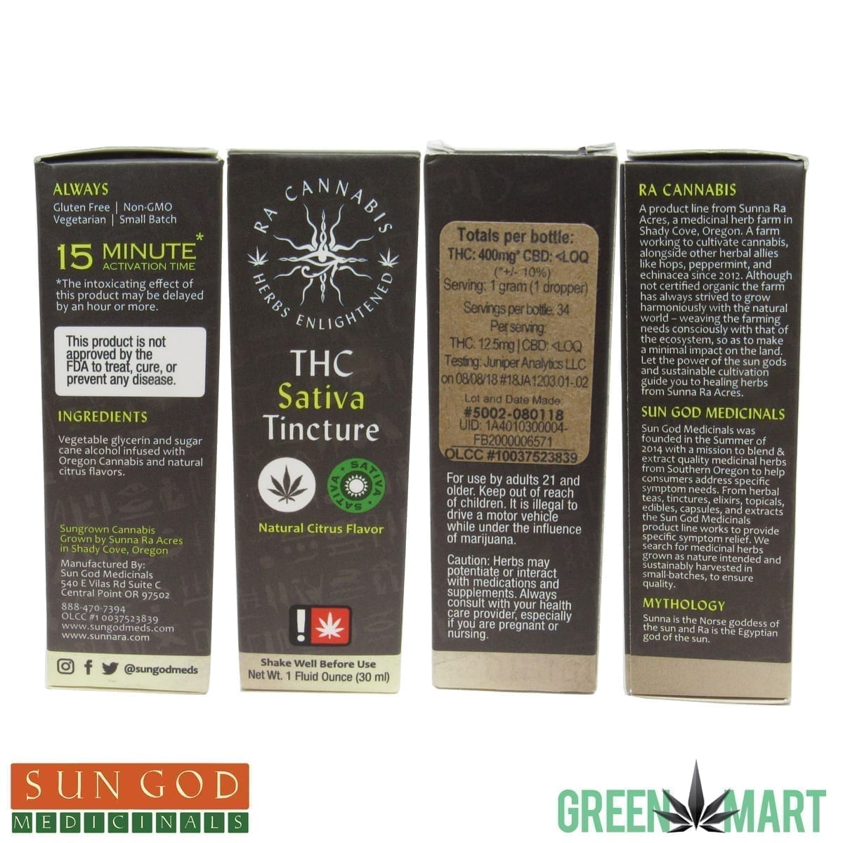 Ra Cannabis THC Sativa Tincture