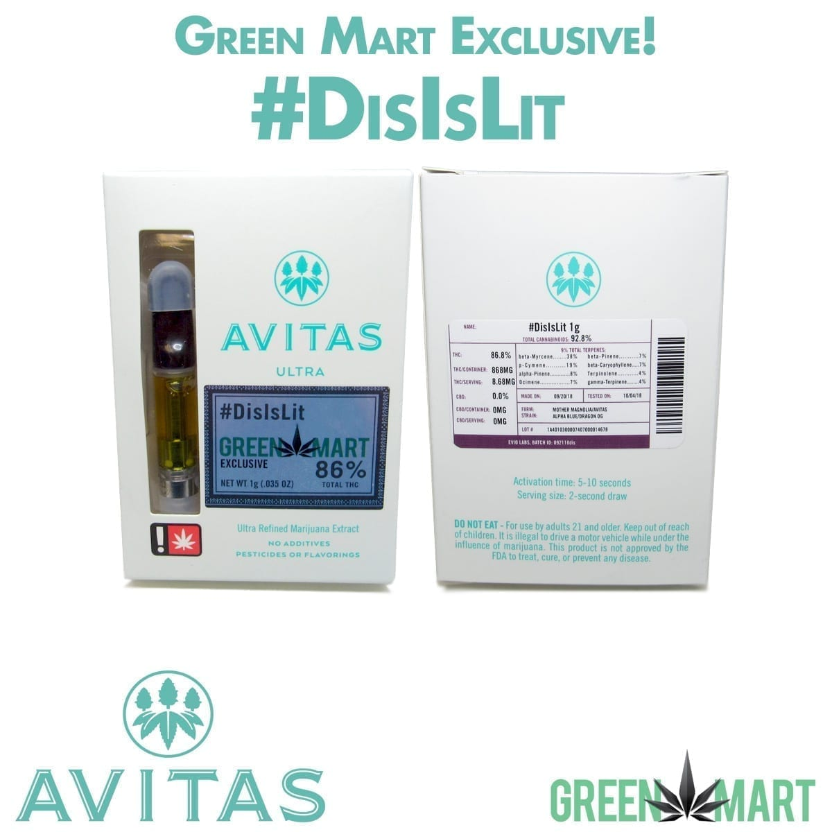 Avitas Cartridges - DisIsLit