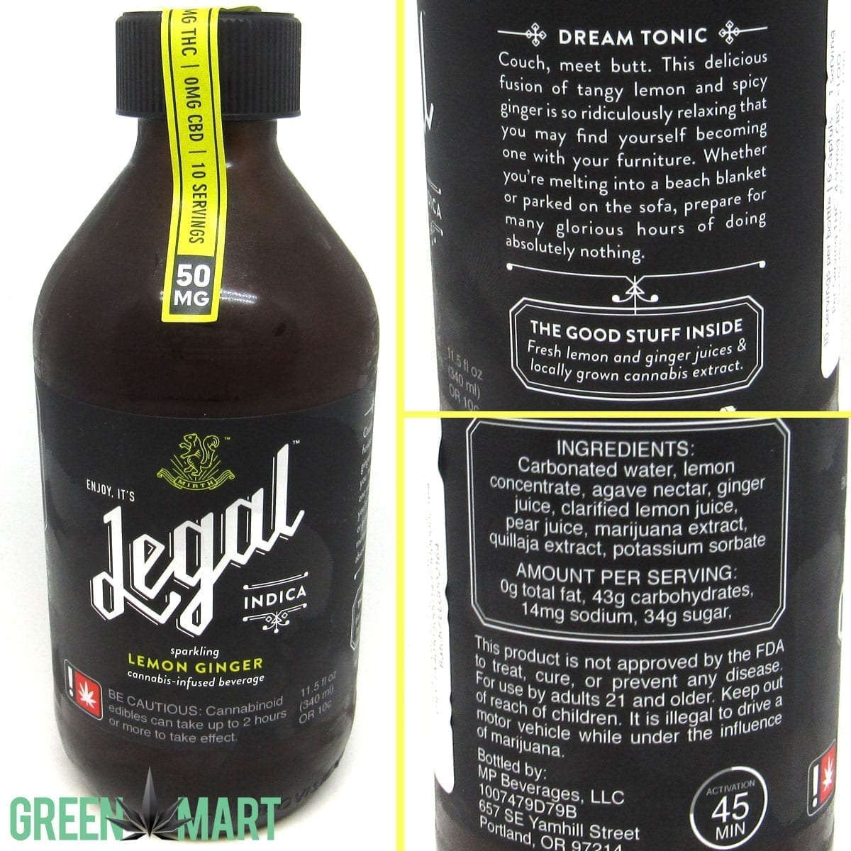 Legal Beverages Lemon Ginger Indica