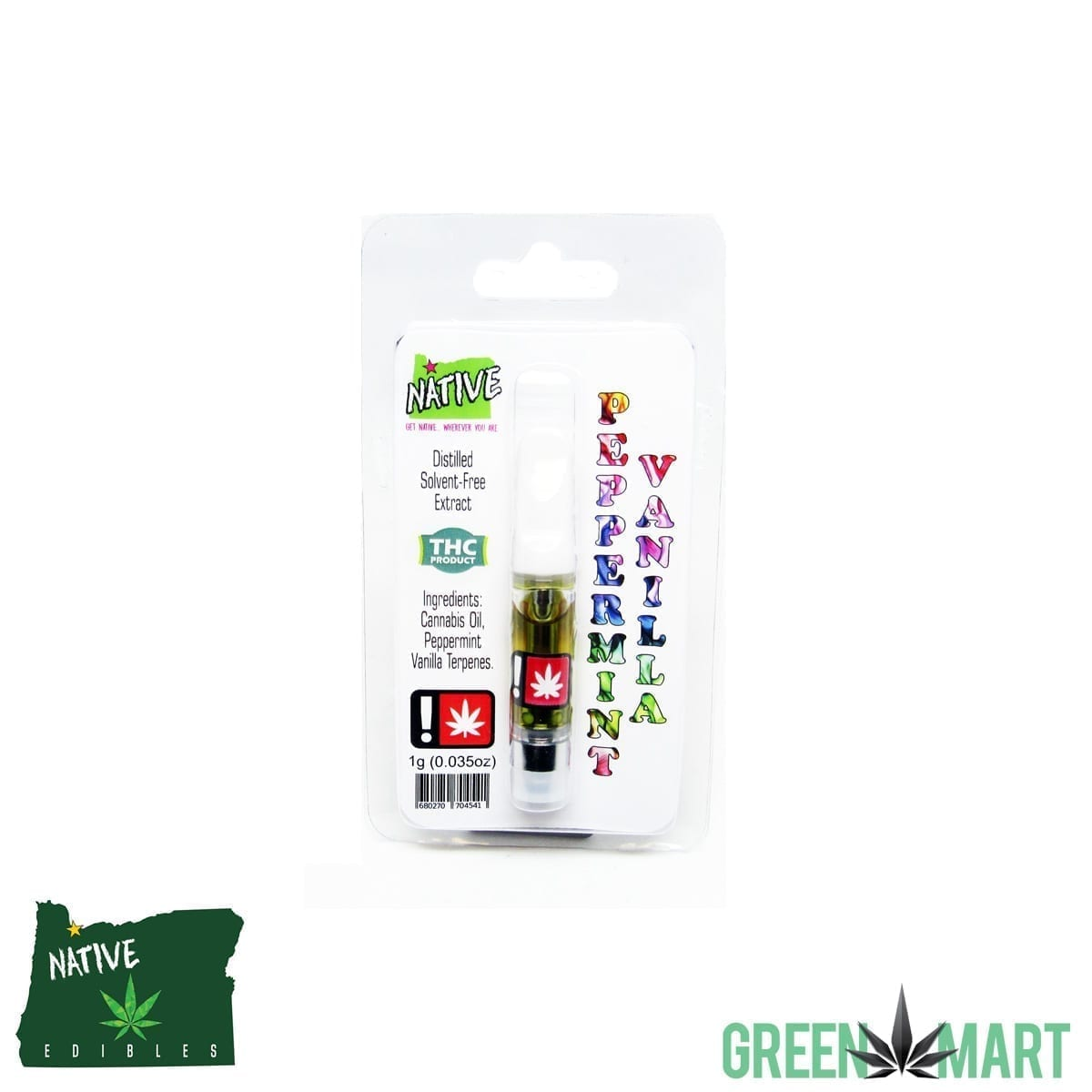 Native Extracts Cartridges - Peppermint Vanilla