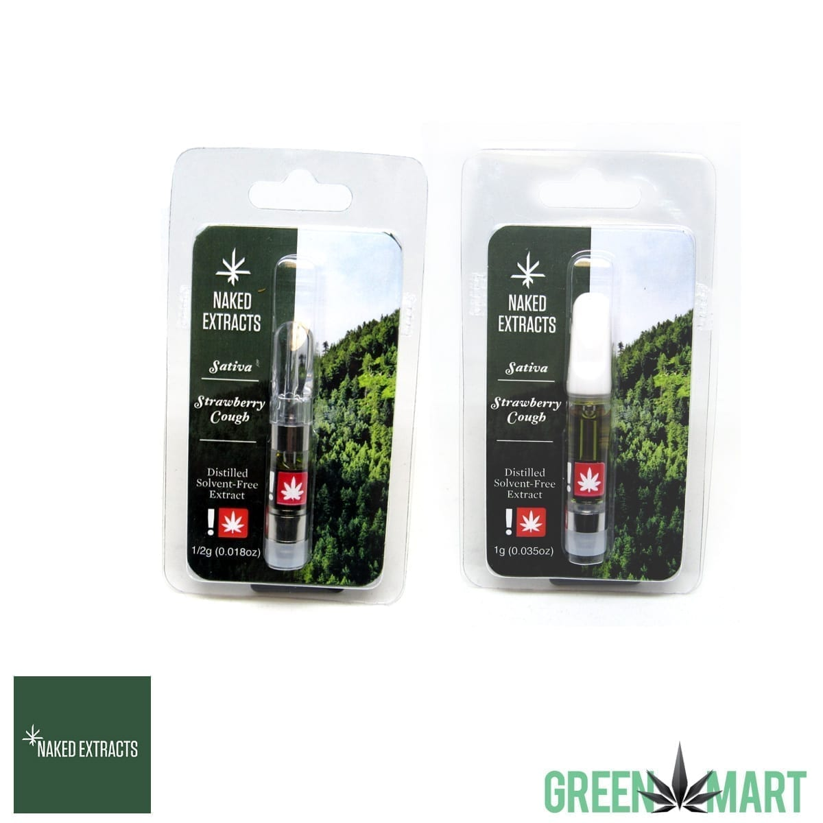 Naked Extracts Cartridges - Strawberry Cough