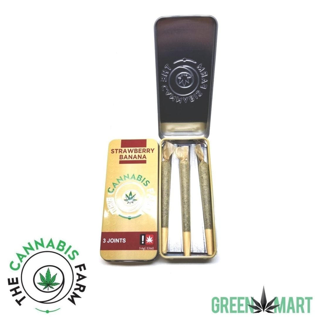 The Cannabis Farm 3 Joint Pack - Strawberry Banana