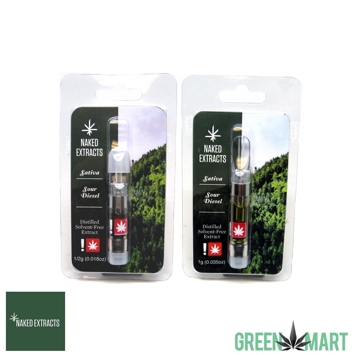 Naked Extracts Cartridges - Sour Diesel
