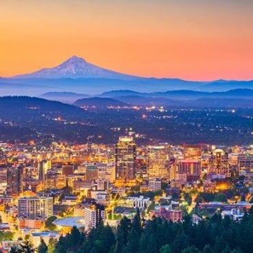 Portland Skyline and Mt. Hood