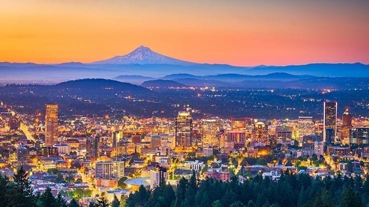Portland Skyline and Mt. Hood
