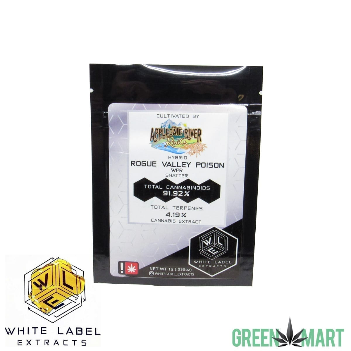 White Label Extracts - Rogue Valley Poison Shatter