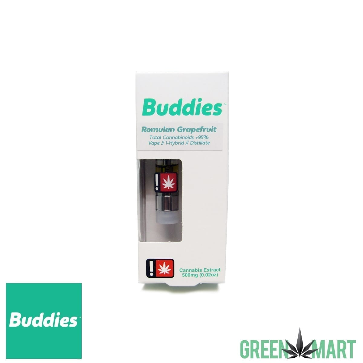 Buddies Brand Distillate Cartridge – Romulan Grapefruit – Green Mart