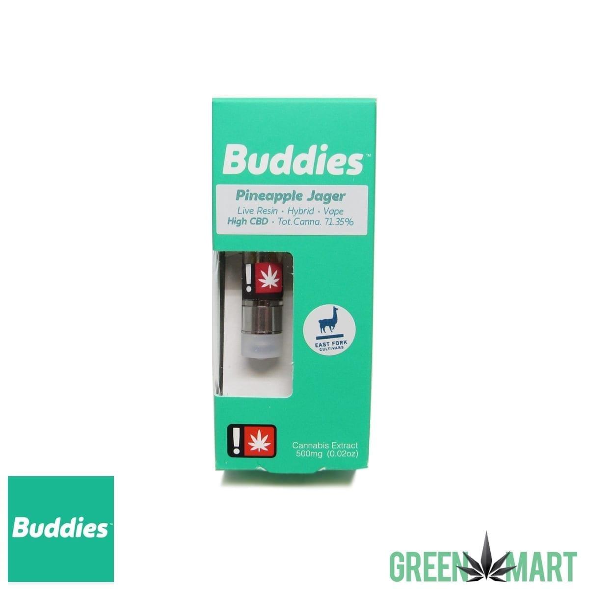 Buddies Brand Live Resin Cartridge - Pineapple Jager