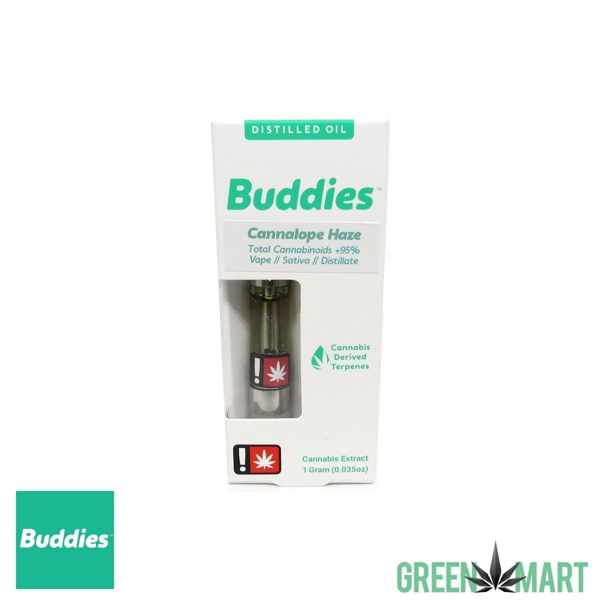 Buddies Brand Distillate Cartridge - Cannalope Haze