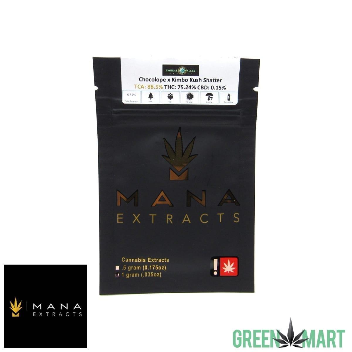 Mana Extracts - Chocolope X Kimbo Kush Shatter