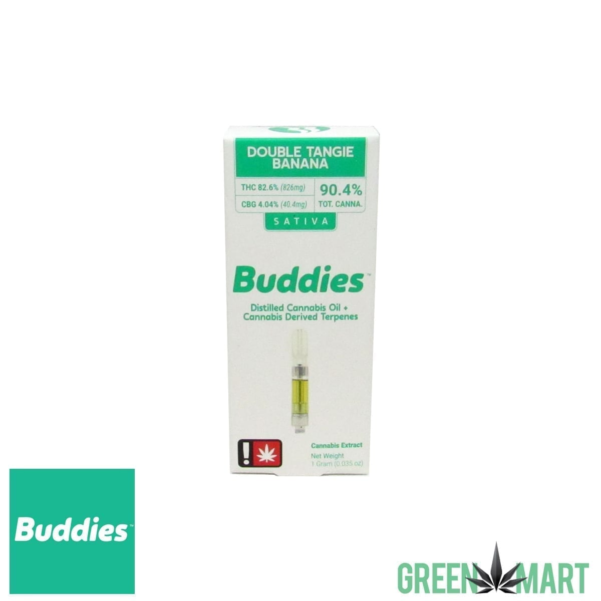 Buddies Brand Distillate Cartridge - Double Tangie Banana