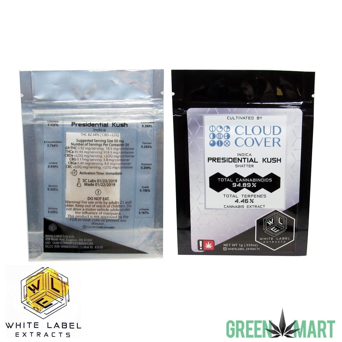 White Label Extracts - Presidential Kush