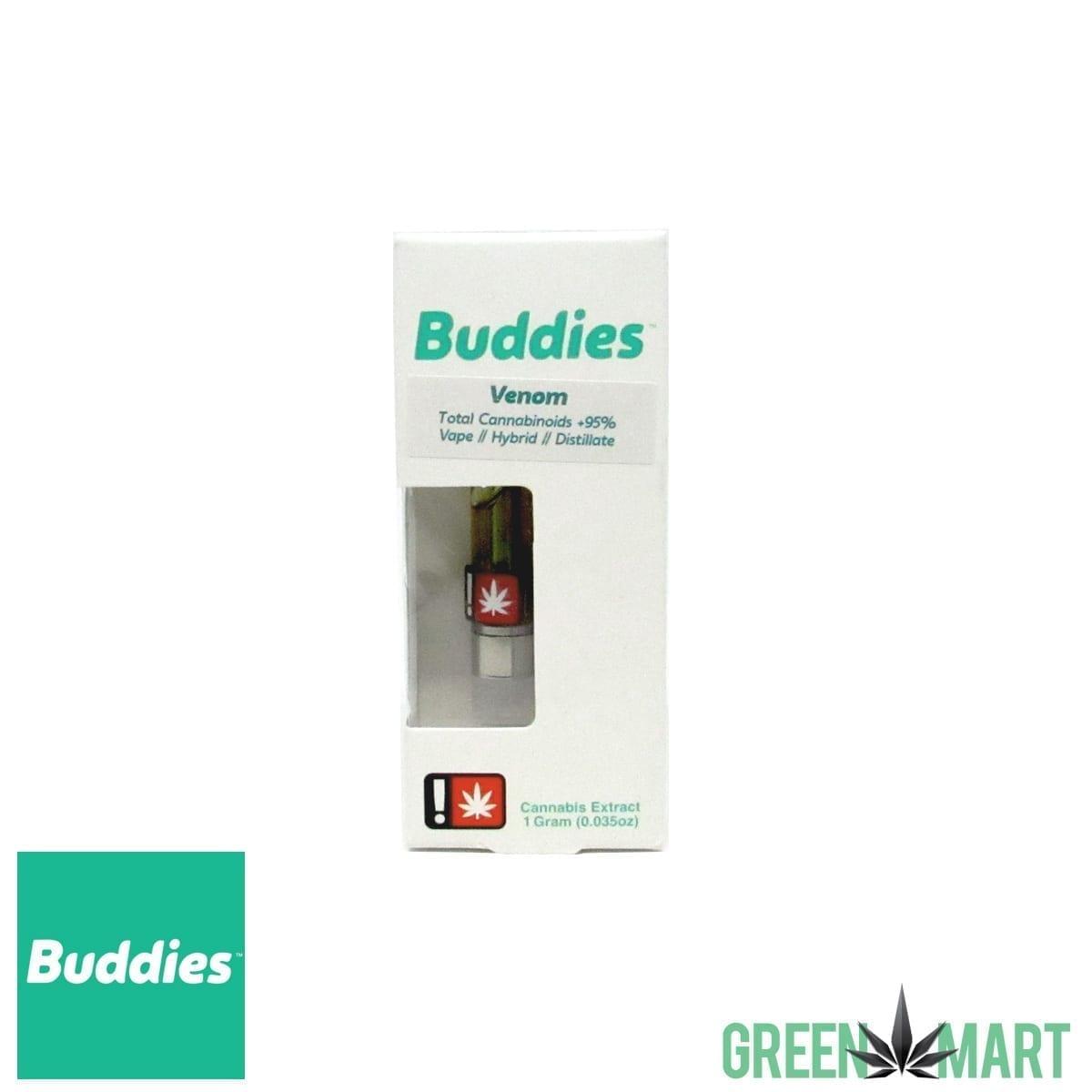 Buddies Brand Distillate Cartridge – Venom 1:1 – Green Mart
