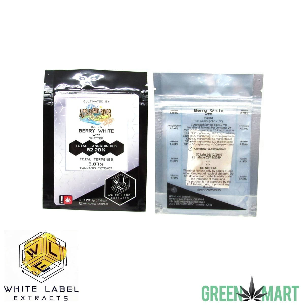 White Label Extracts - Berry White