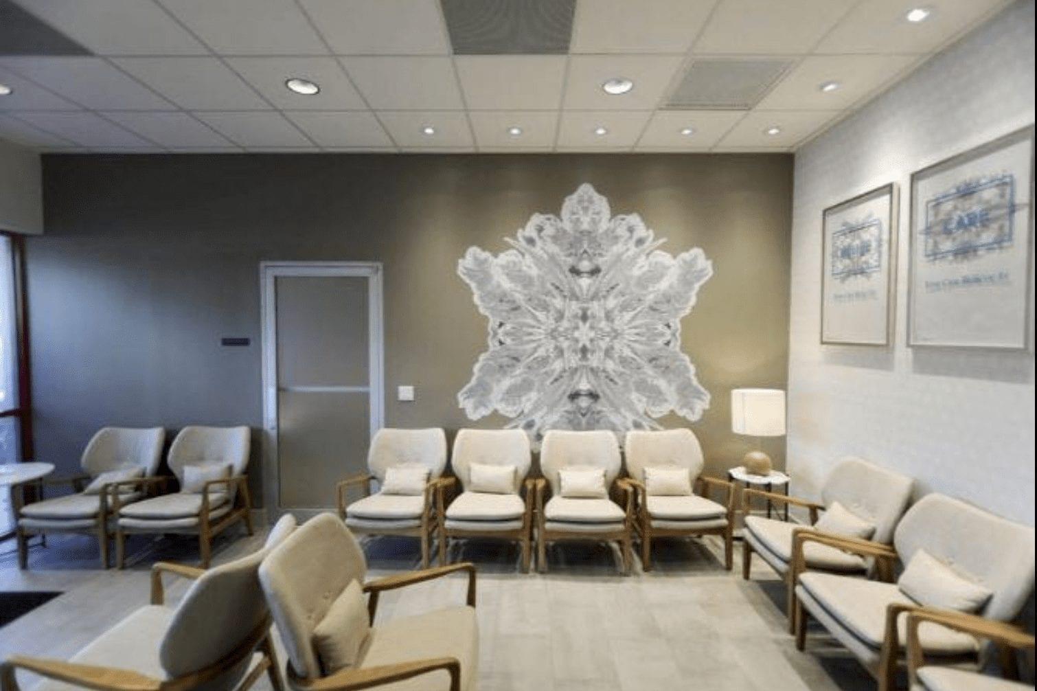Lobby of Trulieve Medical Marijuana Treatment Center in Boynton Beach, FL [Bruce R. Bennet / The Palm Beach Post]