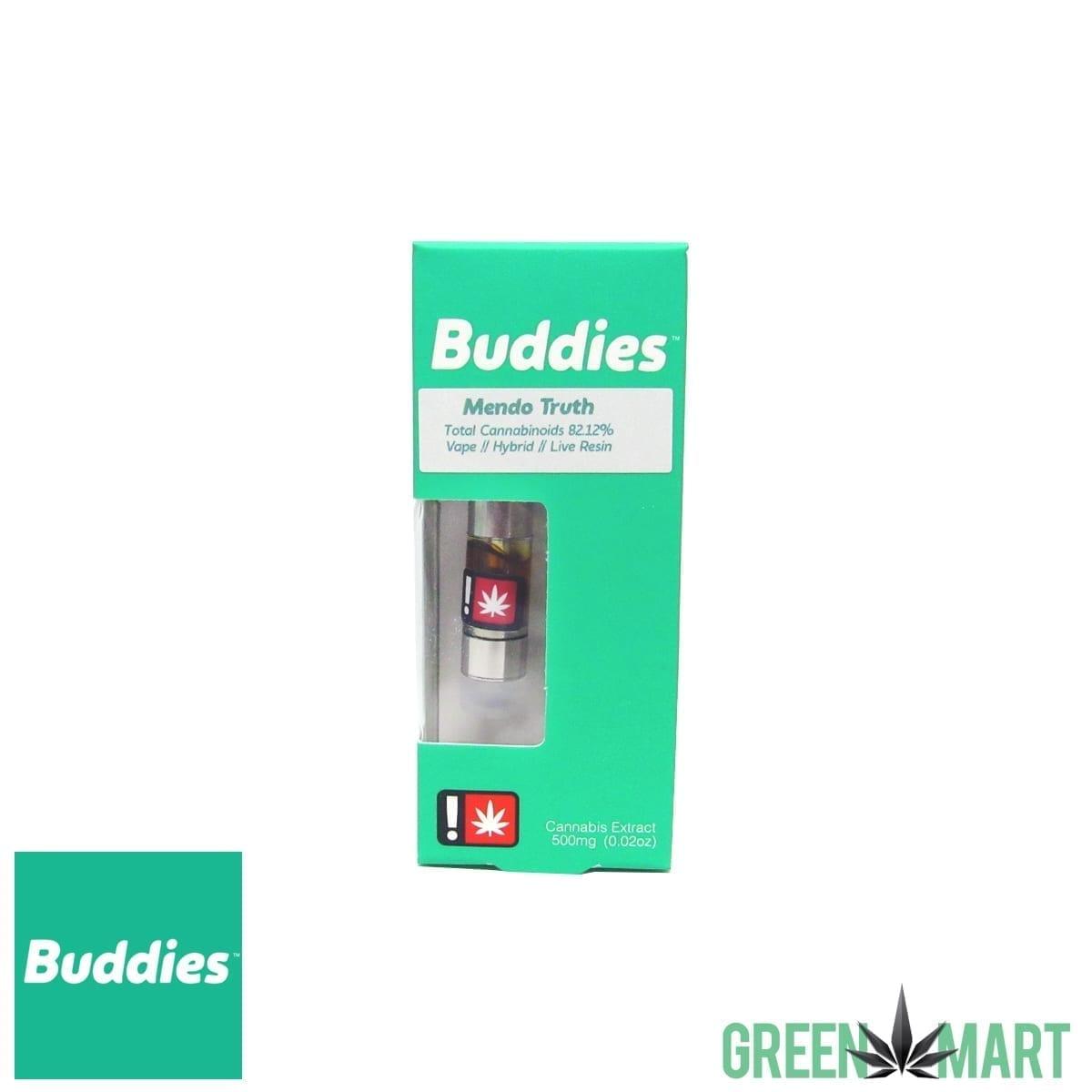 Buddies Brand Distillate Cartridge - Mendo Truth Live Resin