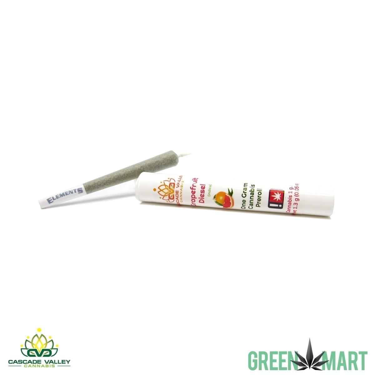 Cascade Valley Cannabis 1g Pre-roll - GrapefruitDiesel