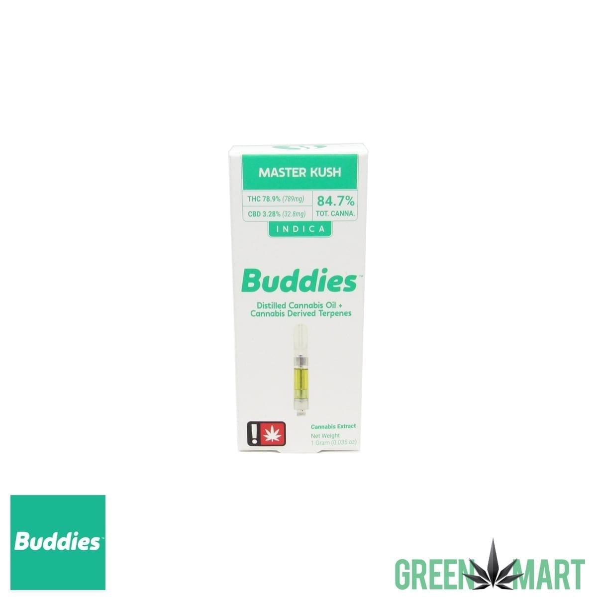 Buddies Brand Distillate Cartridge - Master Kush