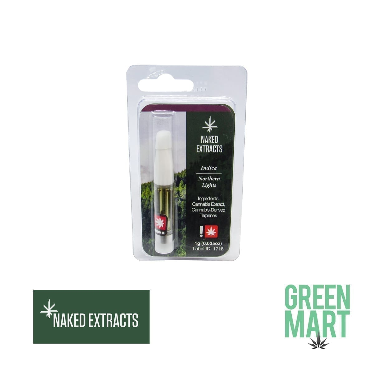 Naked Extracts Northern Lights Indica Cartridge