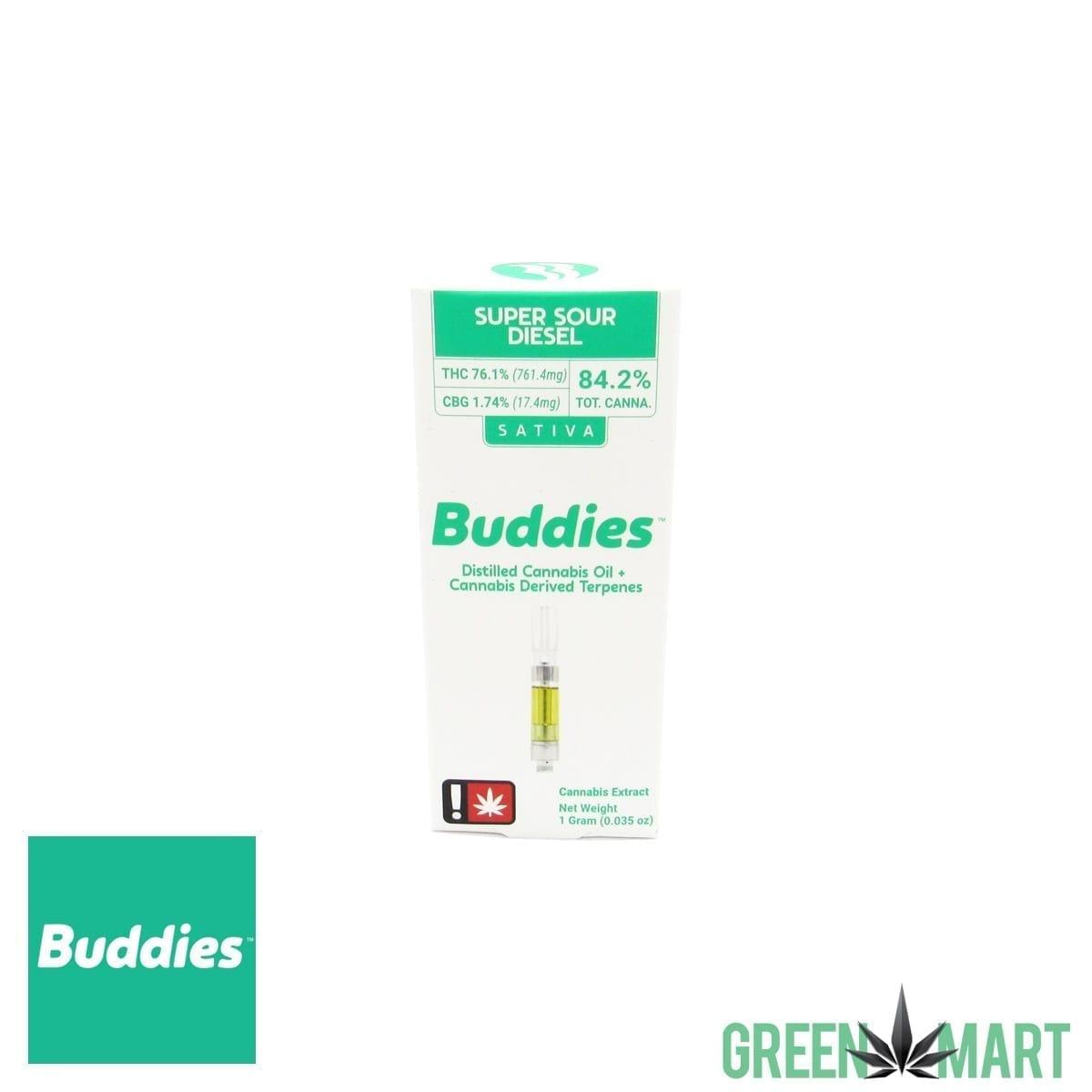 Buddies Distillate Cartridge - Super Sour Diesel Full Gram