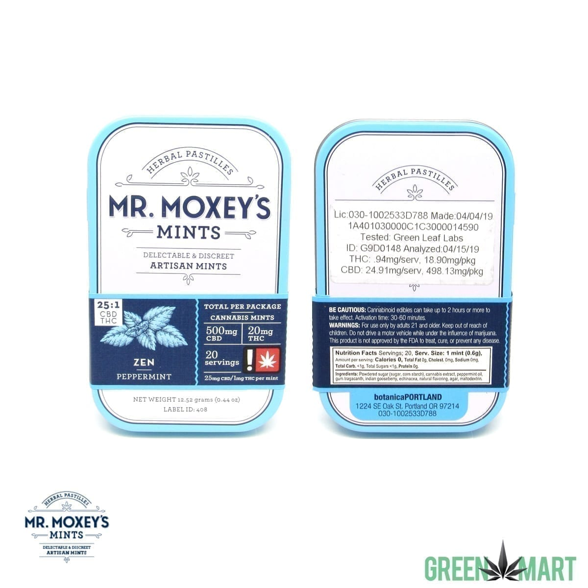 Mr. Moxey's Mints - Zen CBD 25:1 Peppermint
