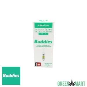 Buddies Distillate Cartridge - Bubba Kush Half Gram