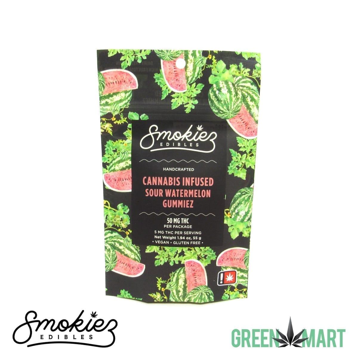 Smokiez Edibles THC Gummiez - Sour Watermelon Front