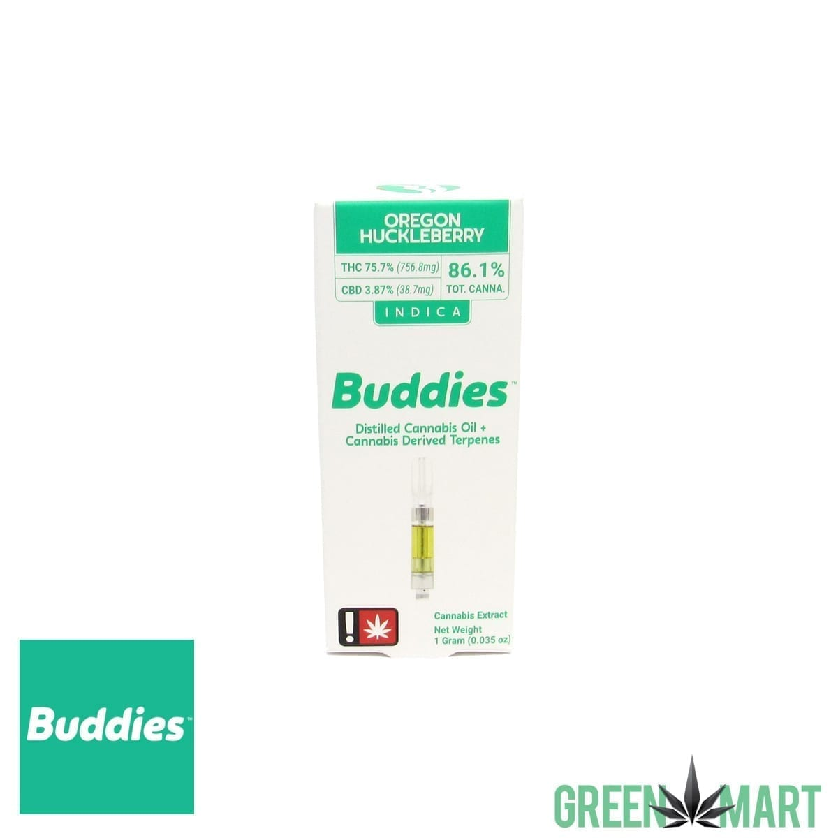Buddies Brand Distillate Cartridge - Oregon Huckleberry