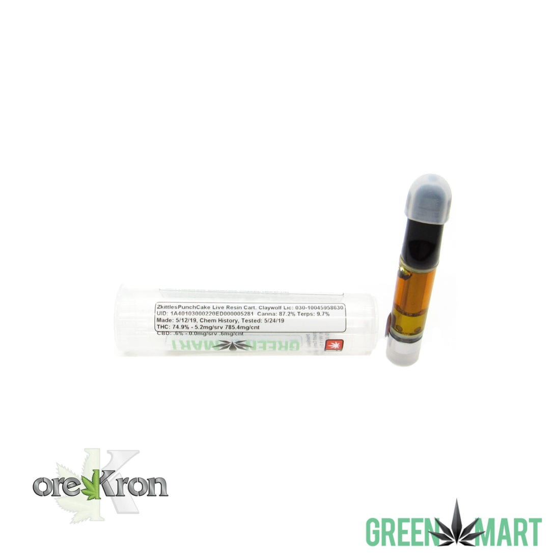 Green Mart Live Resin Cartridges - Zkittles Punch Cake