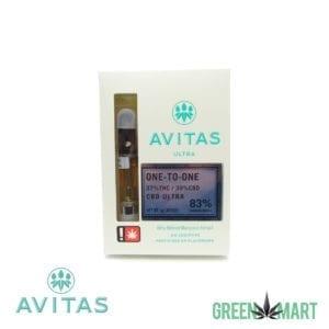 Avitas Ultra Distillate Cartridges - One to One Full Gram