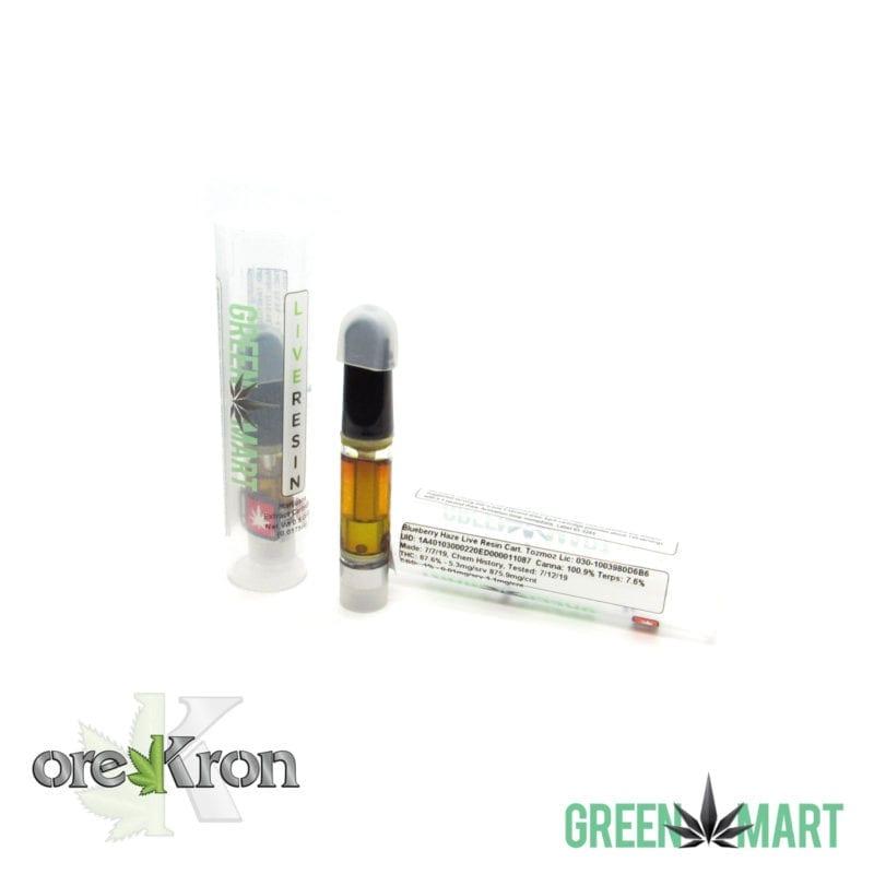 Green Mart Live Resin Cartridges - Blueberry Haze