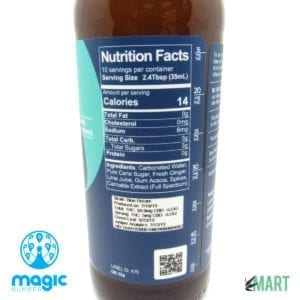 Magic Number Cannabis THC Ginger Beer - Nutrition Facts