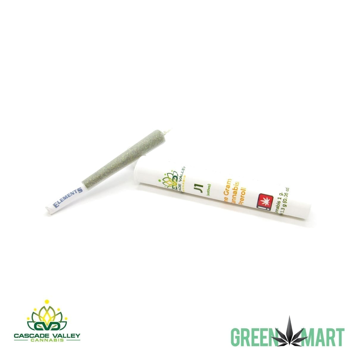 J1 Full Gram Pre-roll by Cascade Valley Cannabis