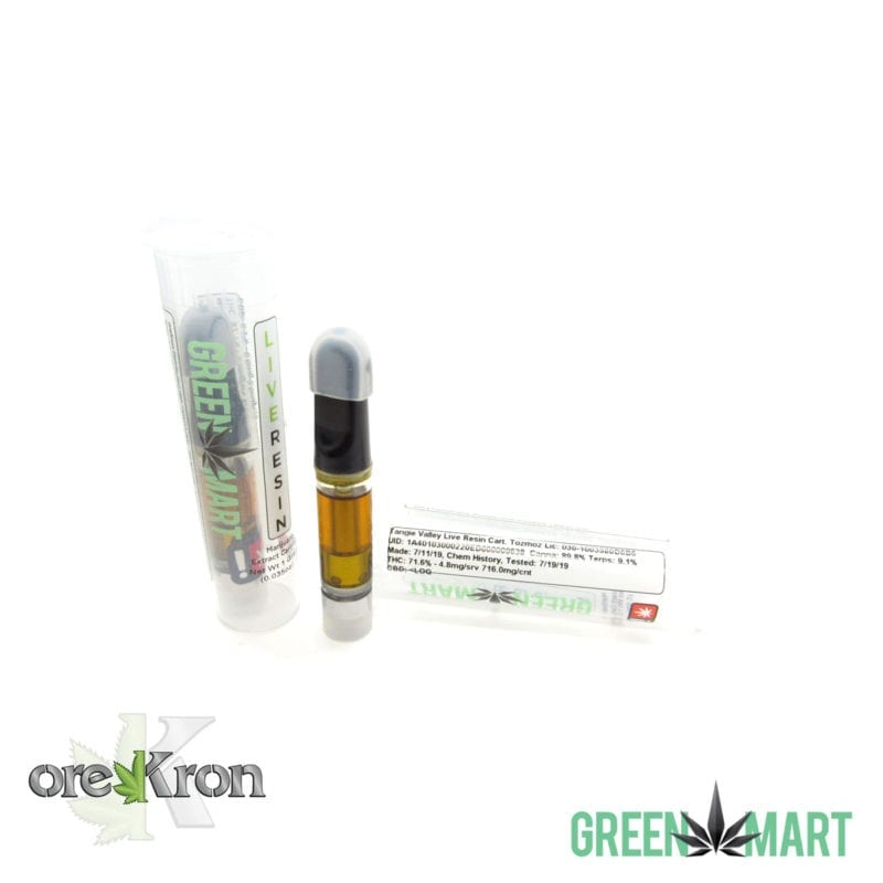 Green Mart Live Resin Cartridges - Tangie Valley Live Resin