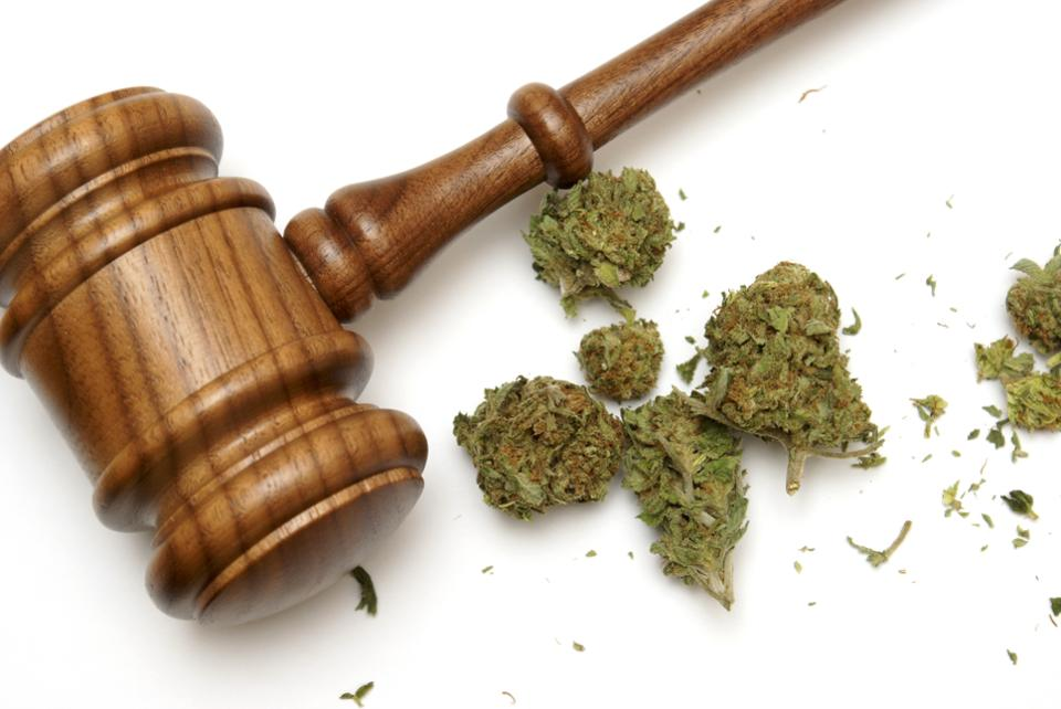 Marijuana and a gavel together. GETTY
