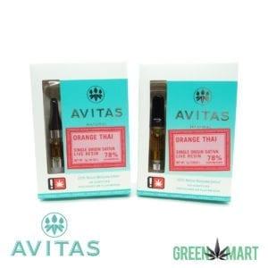 Avitas Natural Cartridge - Orange Thai Live Resin Full Gram