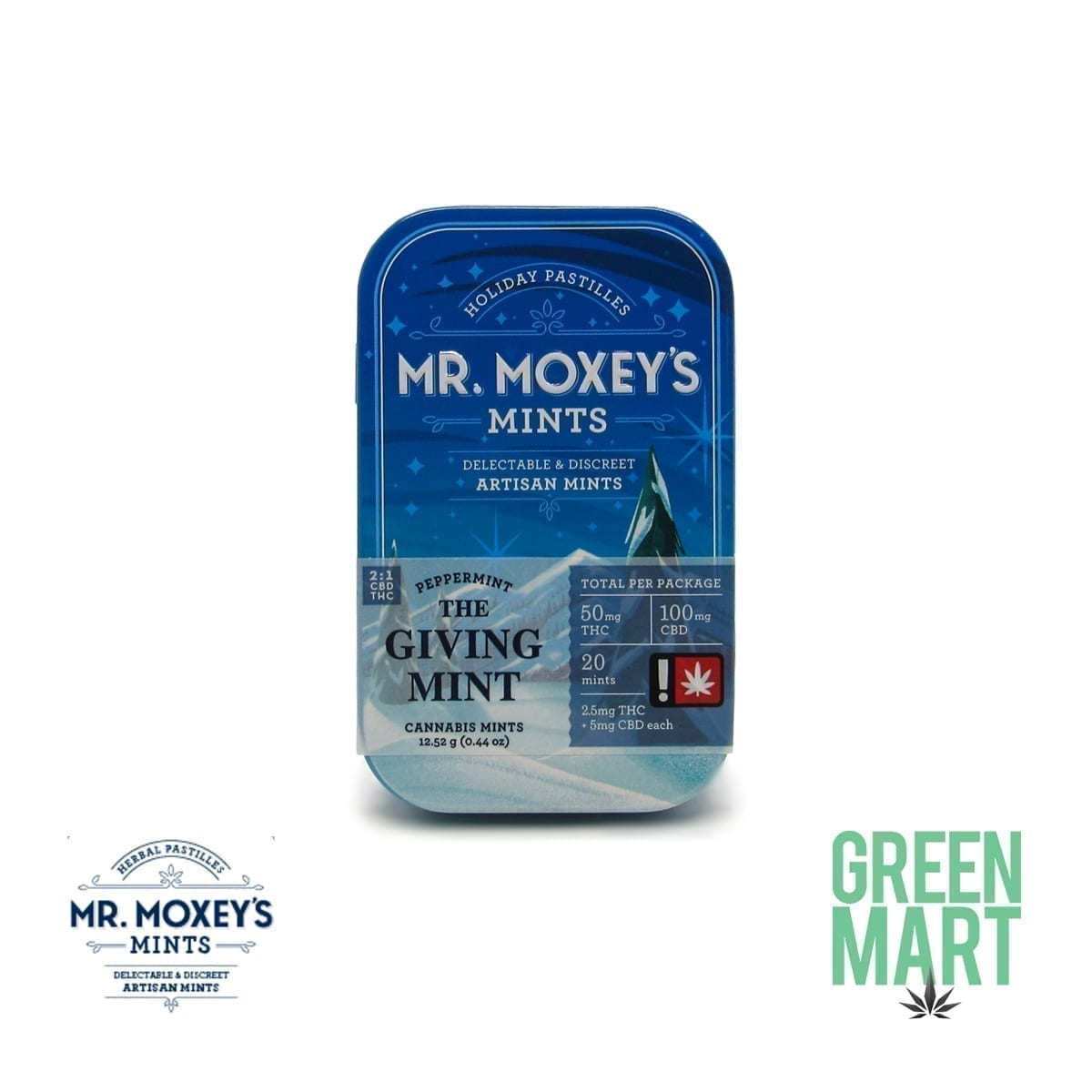 Mr. Moxey's Mints - The Giving Mint 2:1 THC/CBD