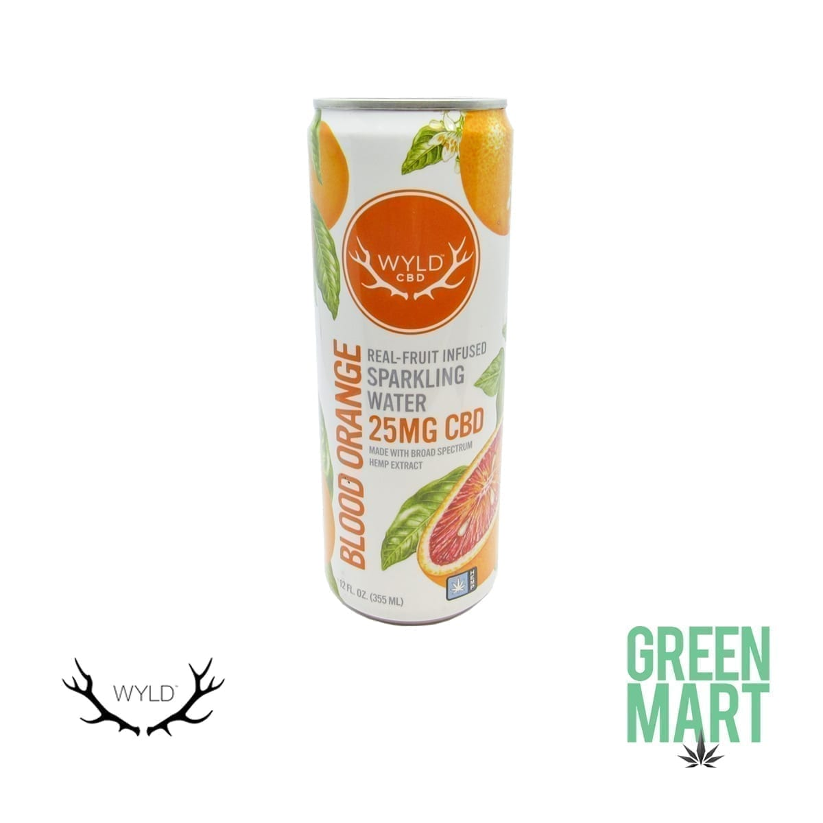Wyld Blood Orange CBD Sparkling Water Front