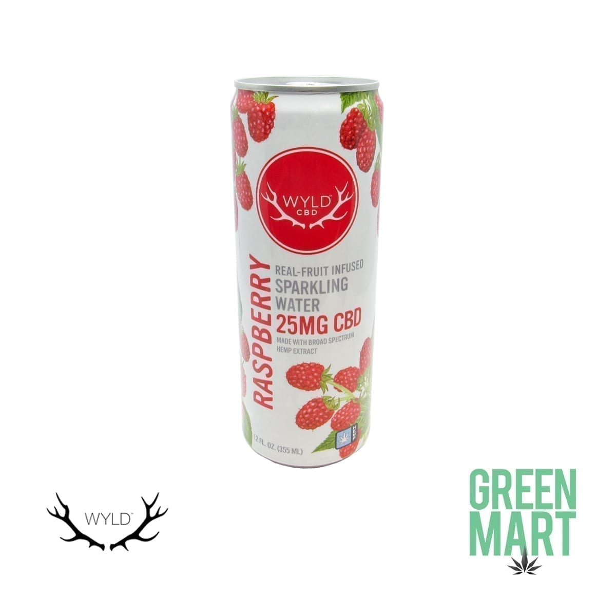 Wyld Raspberry CBD Sparkling Water Front