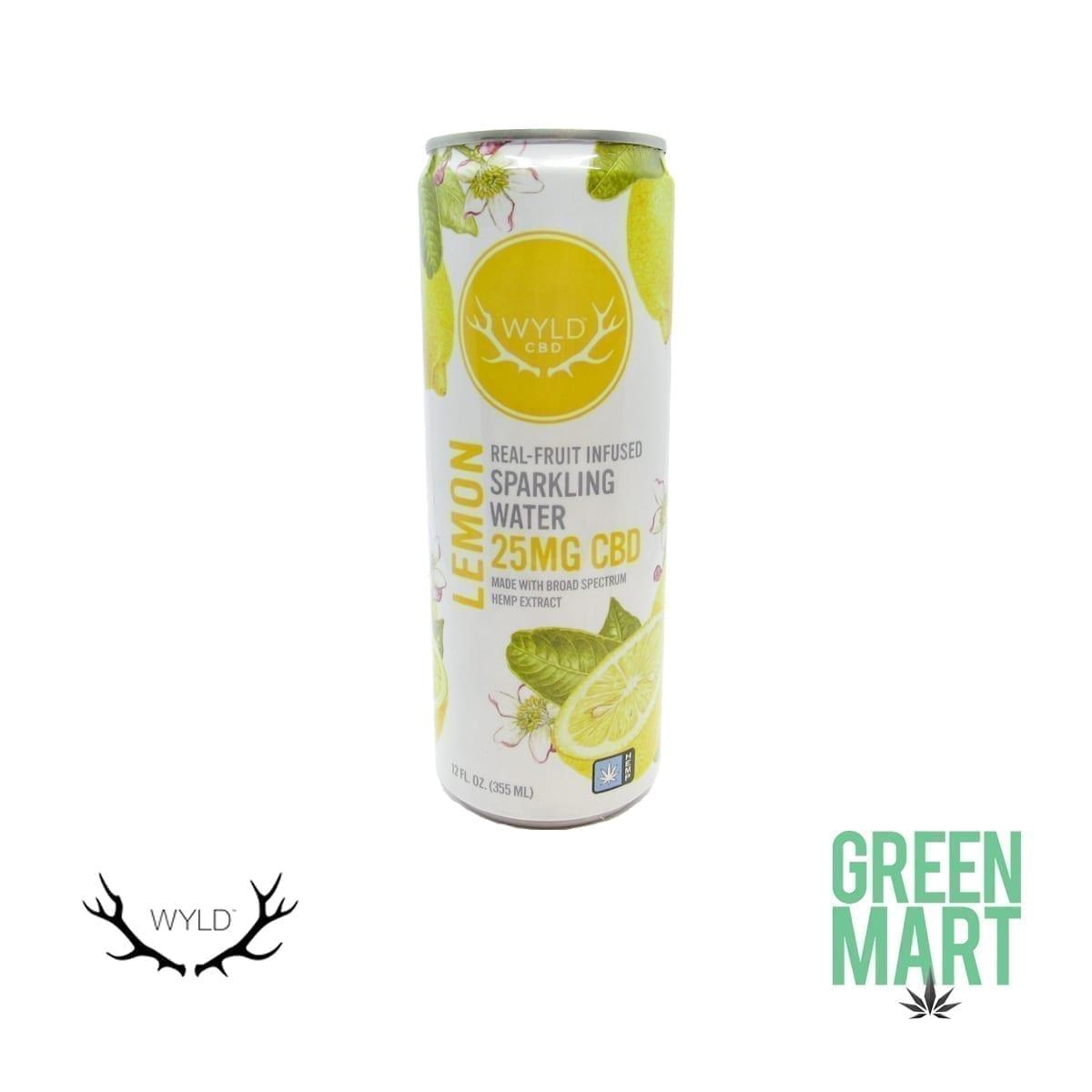 Wyld Lemon CBD Sparkling Water Front