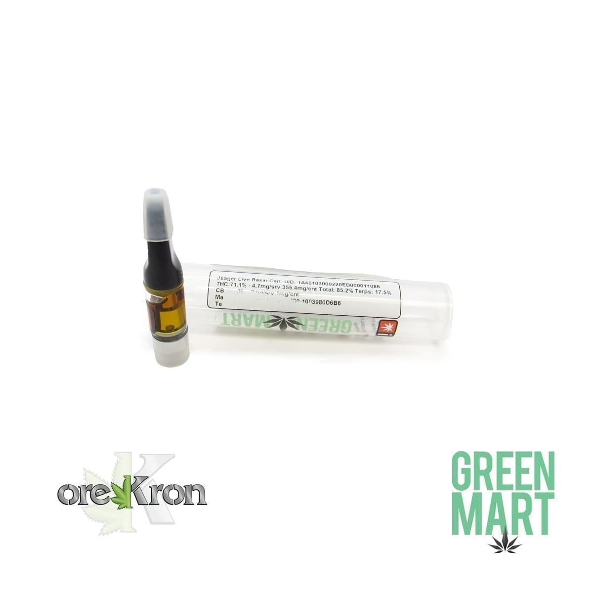 Green Mart Live Resin Cartridges - Jaeger .5g