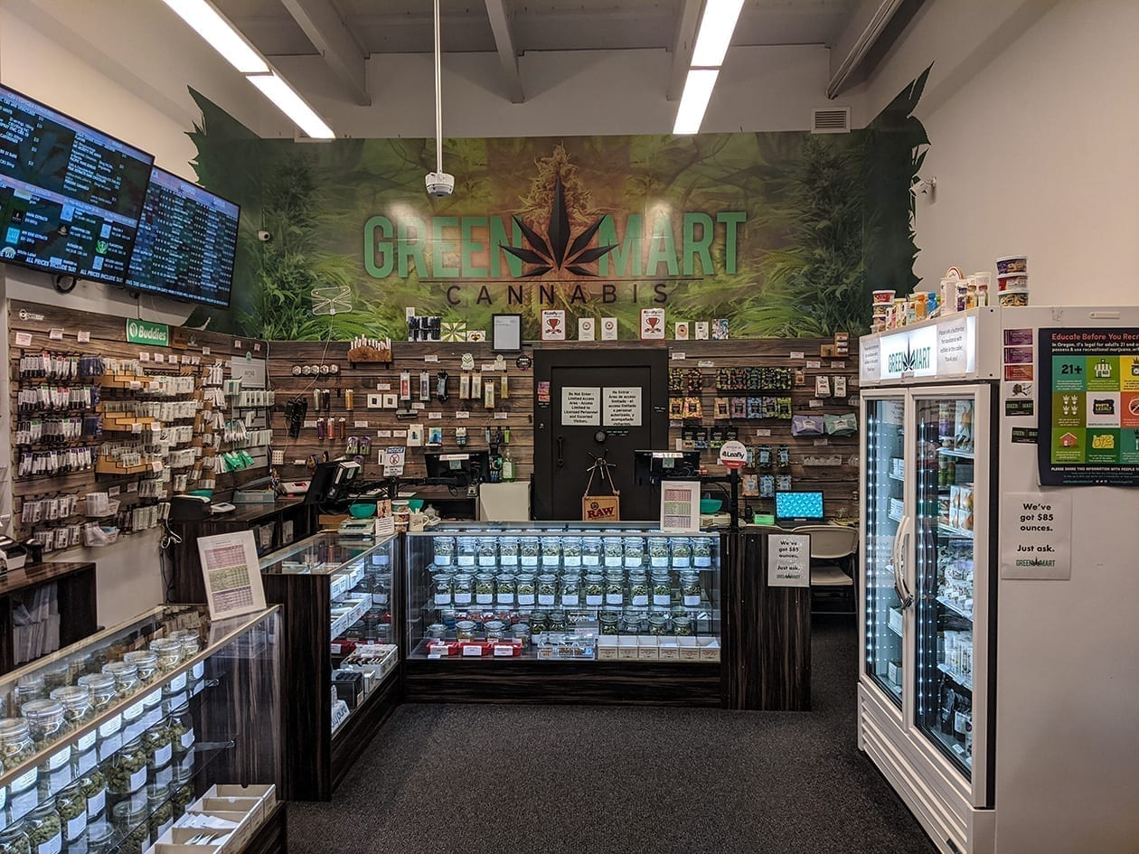 Green Mart Shop Back Wall