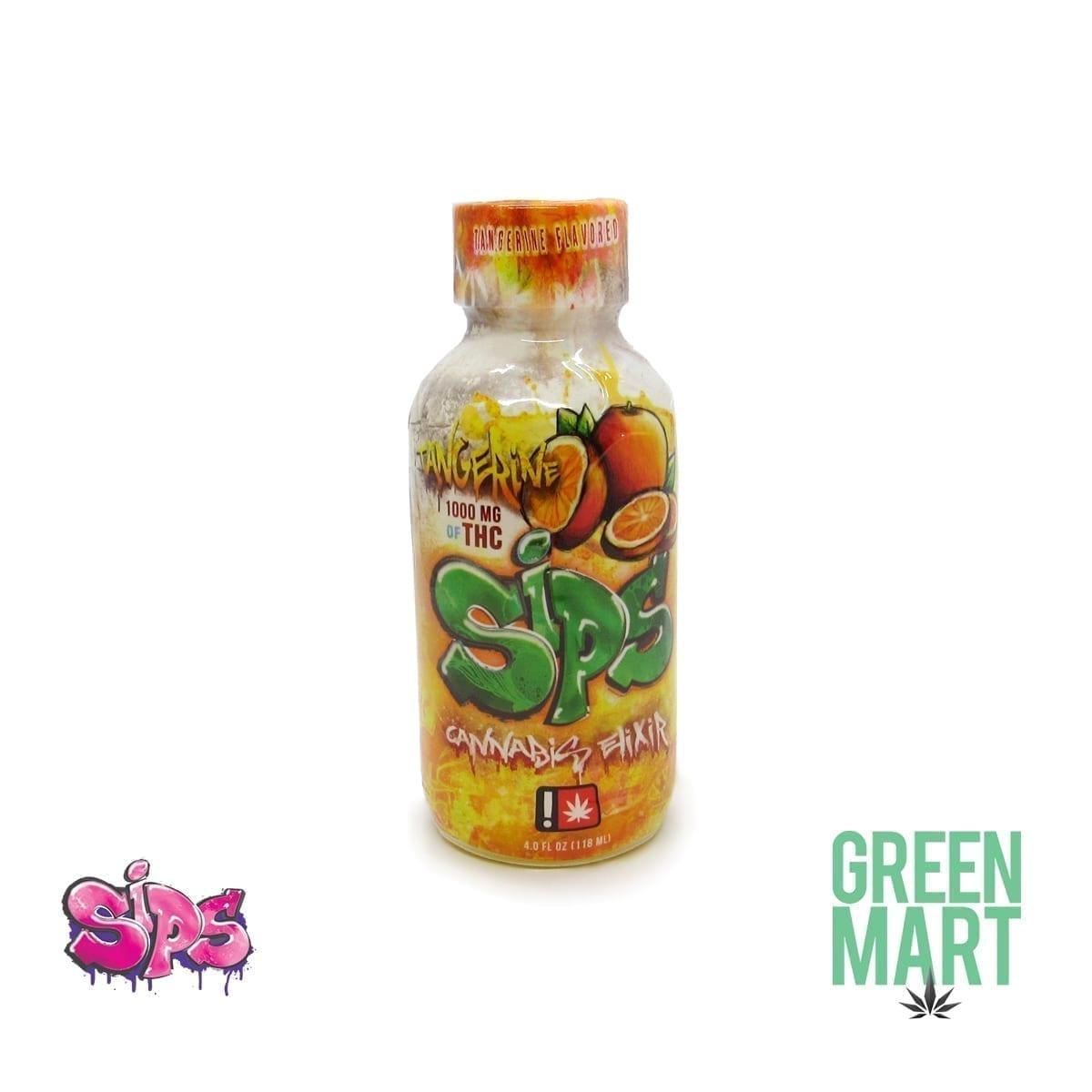 Sips Cannabis Elixir - Tangerine 1000mg