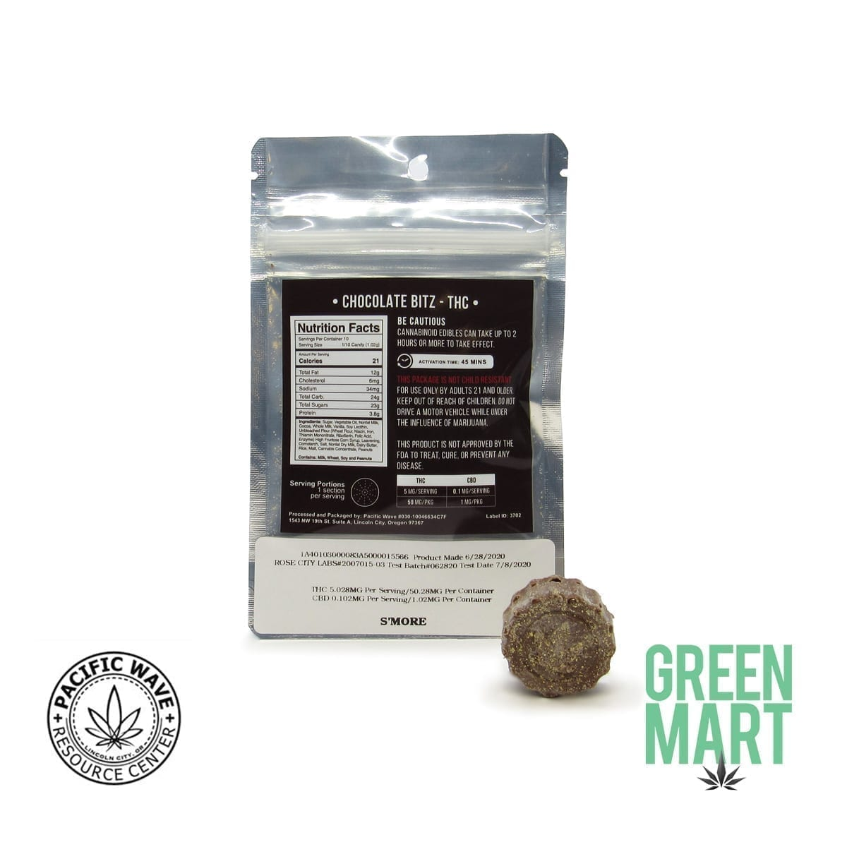 Pacific Wave Edibles - THC Chocolate Bitz – S'mores