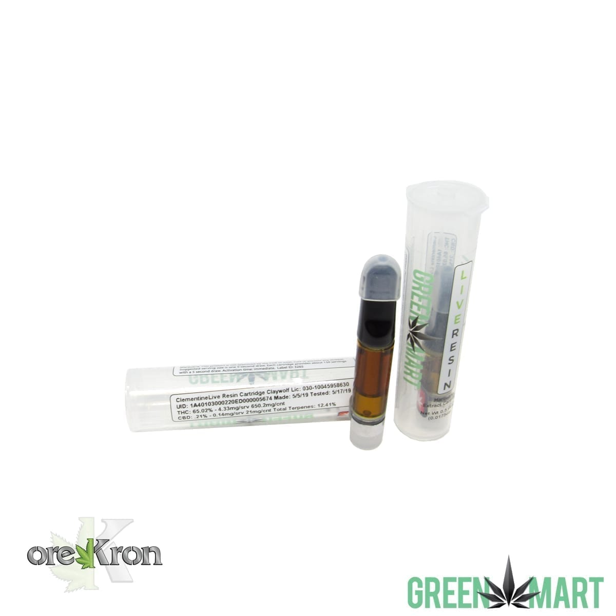 Green Mart Live Resin Cartridges - Clementine