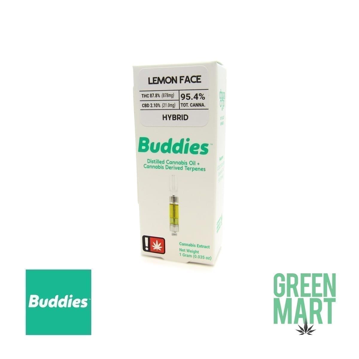 Buddies Brand Distillate Cartridge - Lemon Face