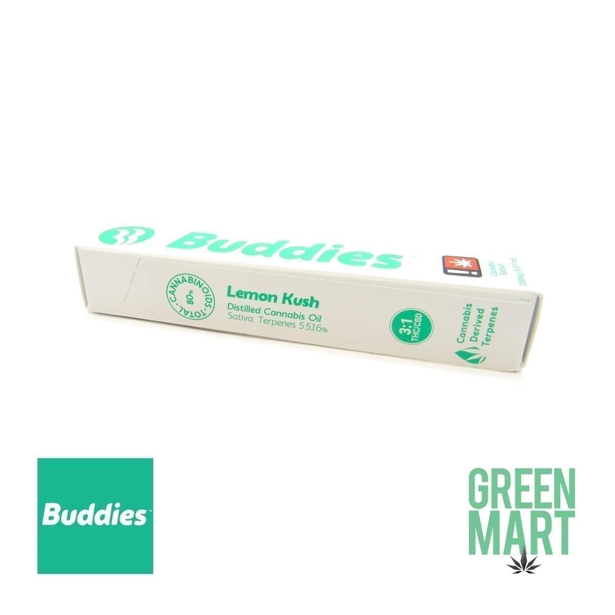 Buddies Brand Disposable Vape - High *CBD* Lemon Kush