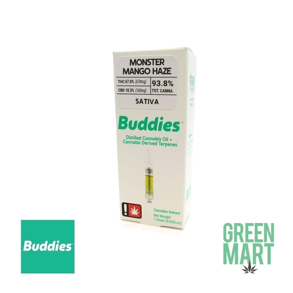 Buddies Brand Distillate Cartridge - *CBD* Monster Mango Haze