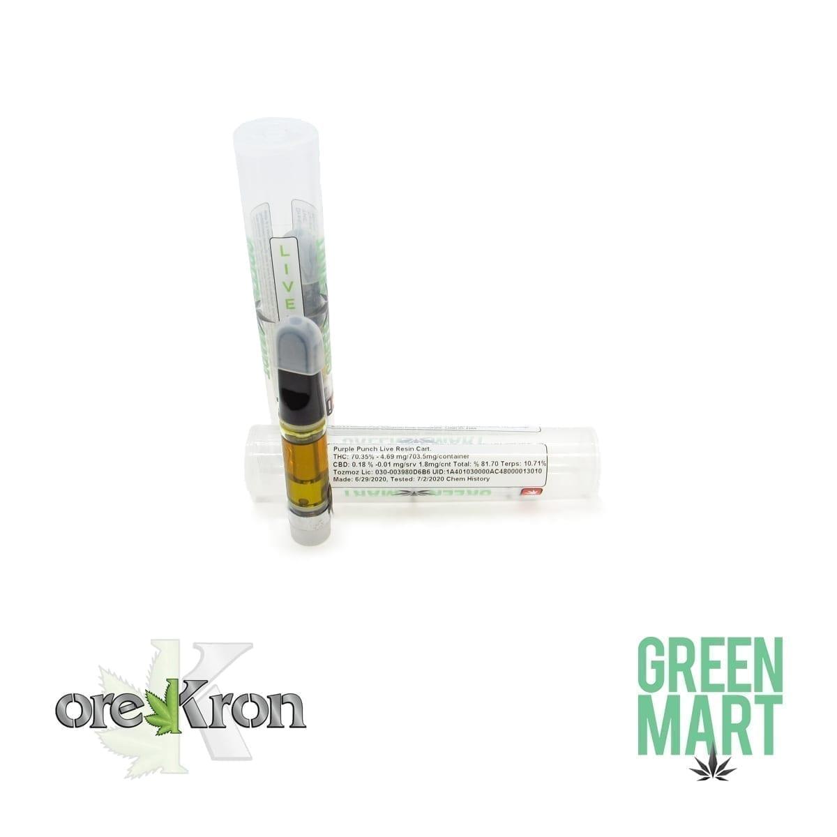 Green Mart Live Resin Cartridges – Purple Punch