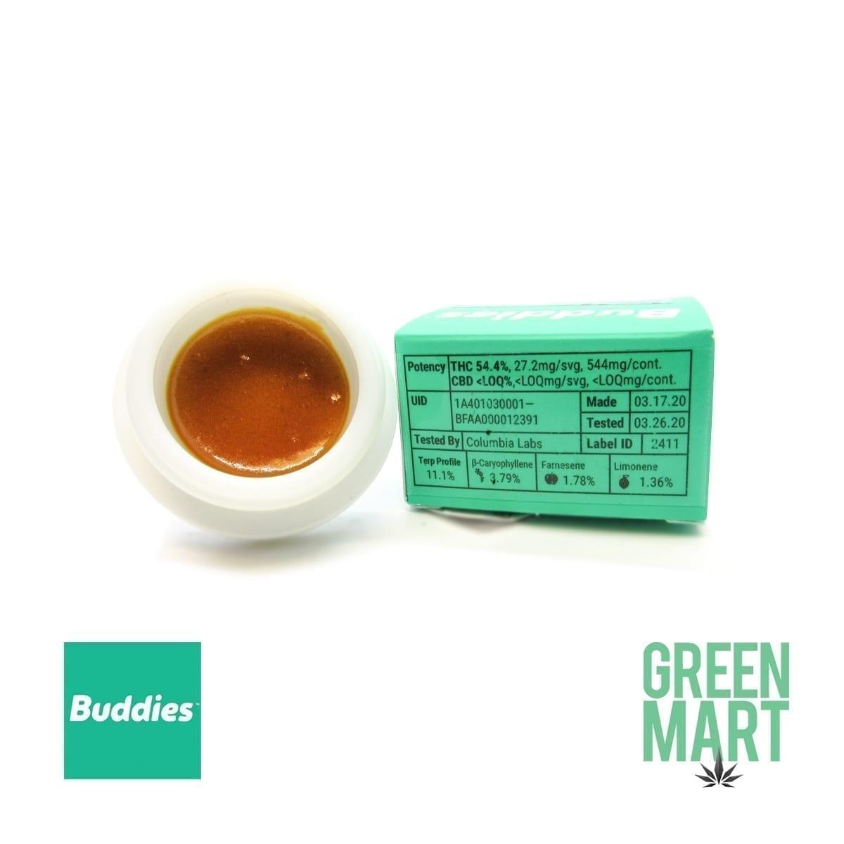 Buddies Dab - Sour OG X Gorilla Berry